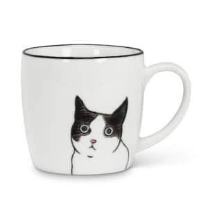 Mug with cat face