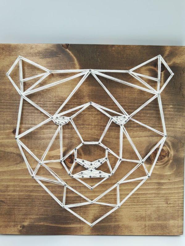 Dandy Wee Strings Geo Bear String Art