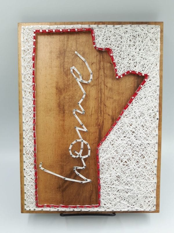 Dandy Wee Strings Manitoba Home String Art