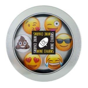 Emoji Wine Charm Set
