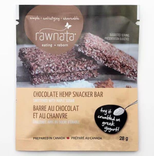 Rawnata Chocolate Hemp Snacker Bar