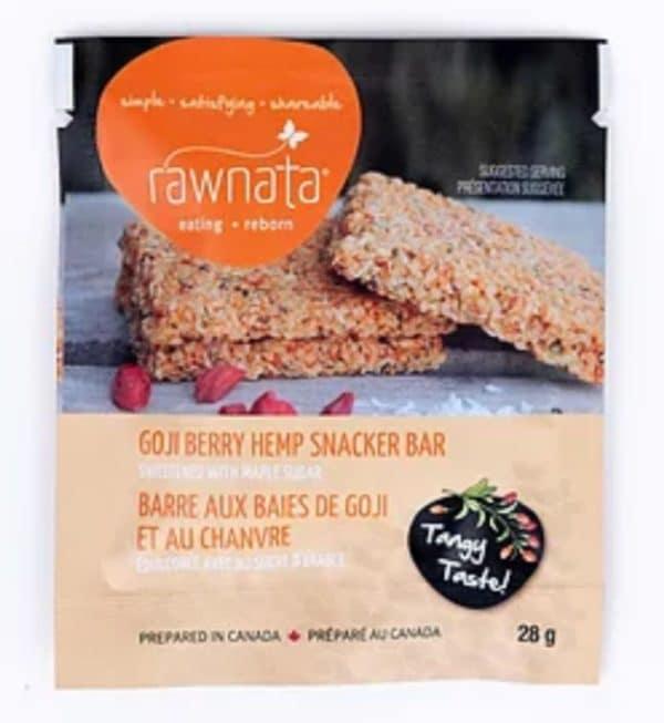 Rawnata Goji Berry Hemp Snacker Bar