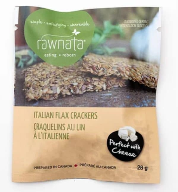 Rawnata Italian Flax Crackers